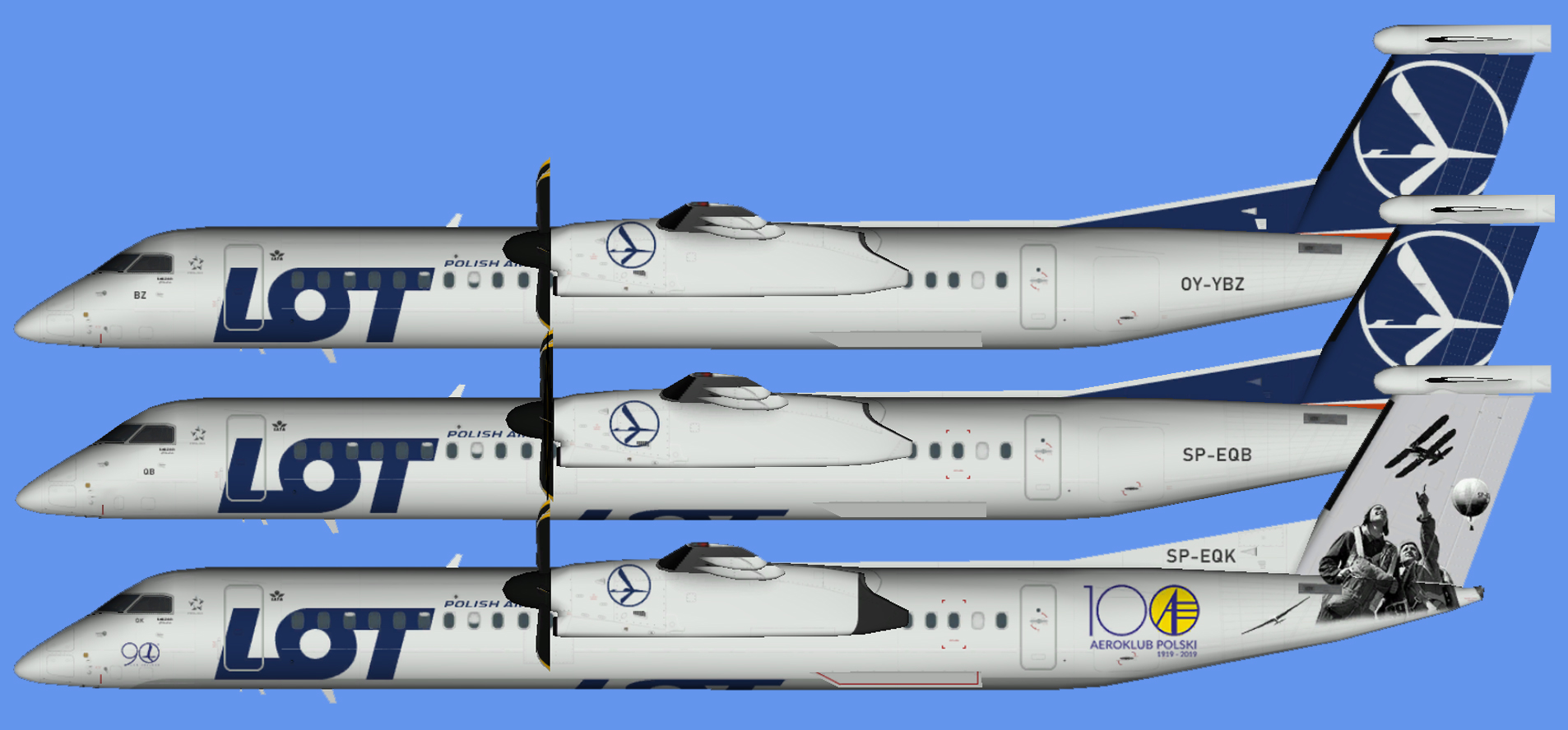 LOT Polish Airlines Dash 8-400