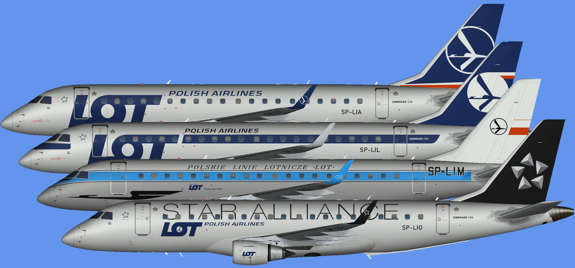 LOT Embraer E-175 (RFSL)