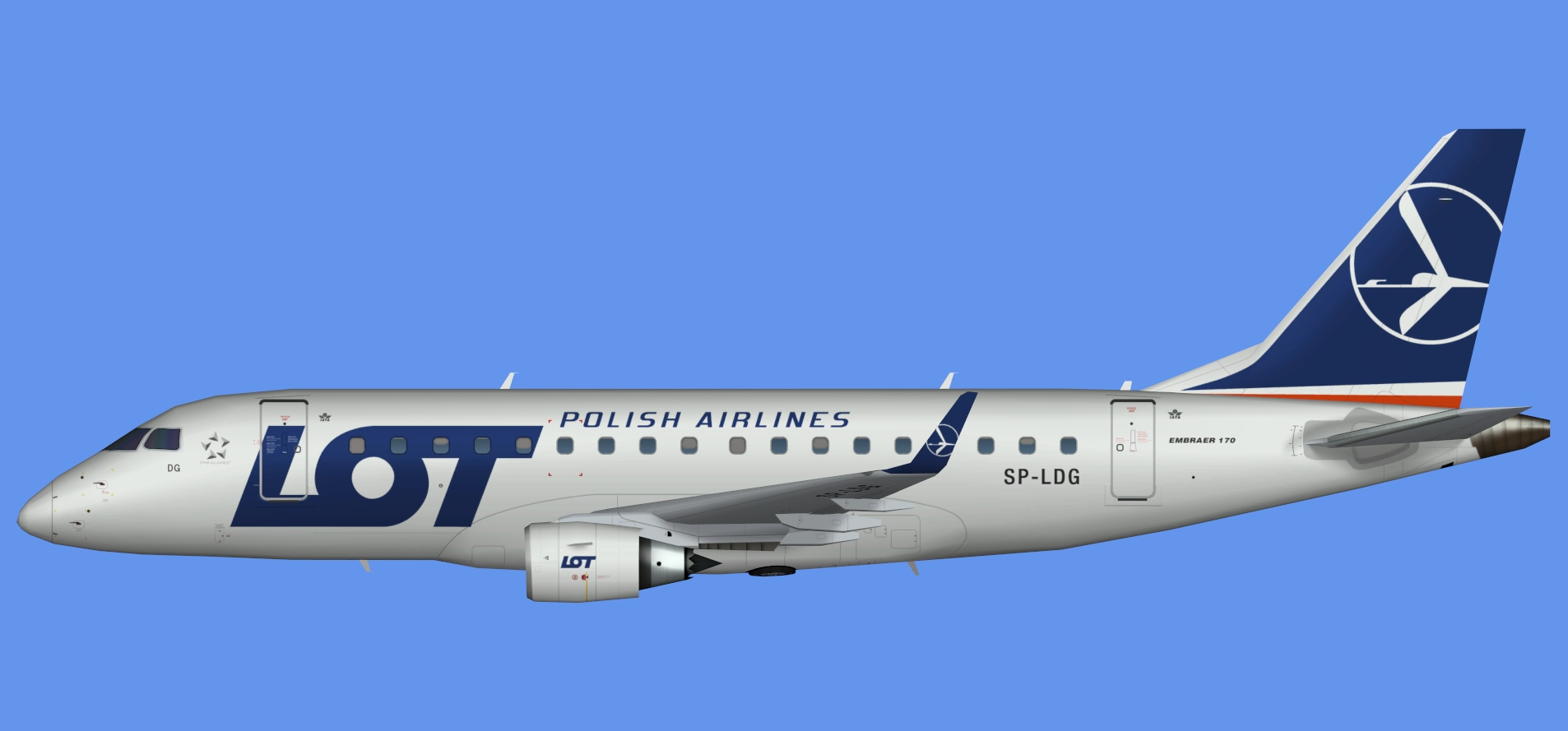 LOT Polish Airlines Embraer E170 NC (AIA)
