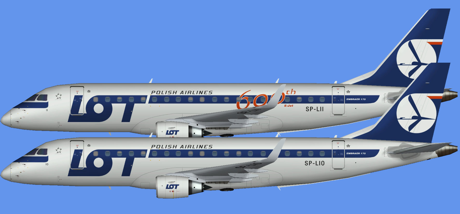 LOT Polish Airlines Embraer E175 OC (AIA)