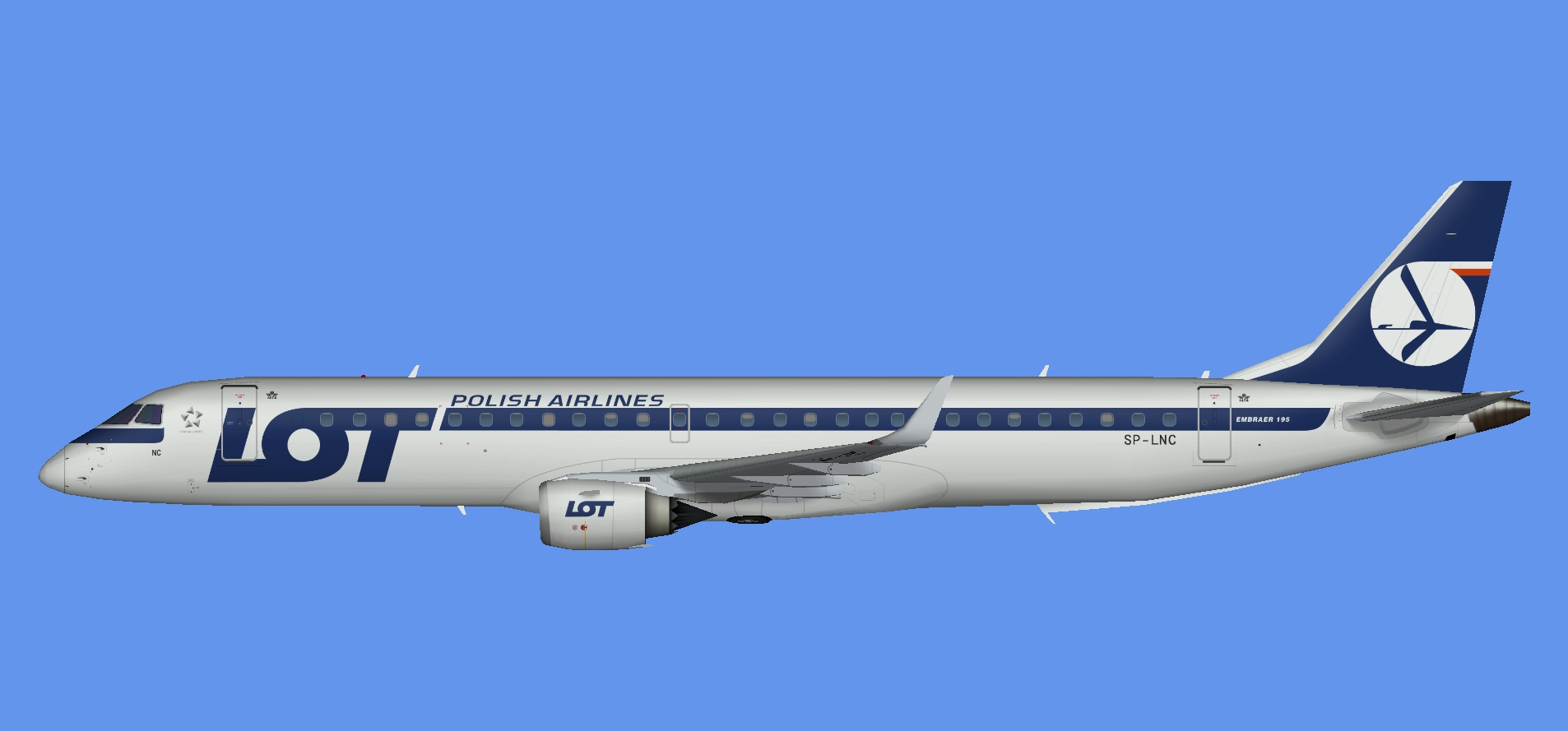 LOT Polish Airlines Embraer EMB195 OC