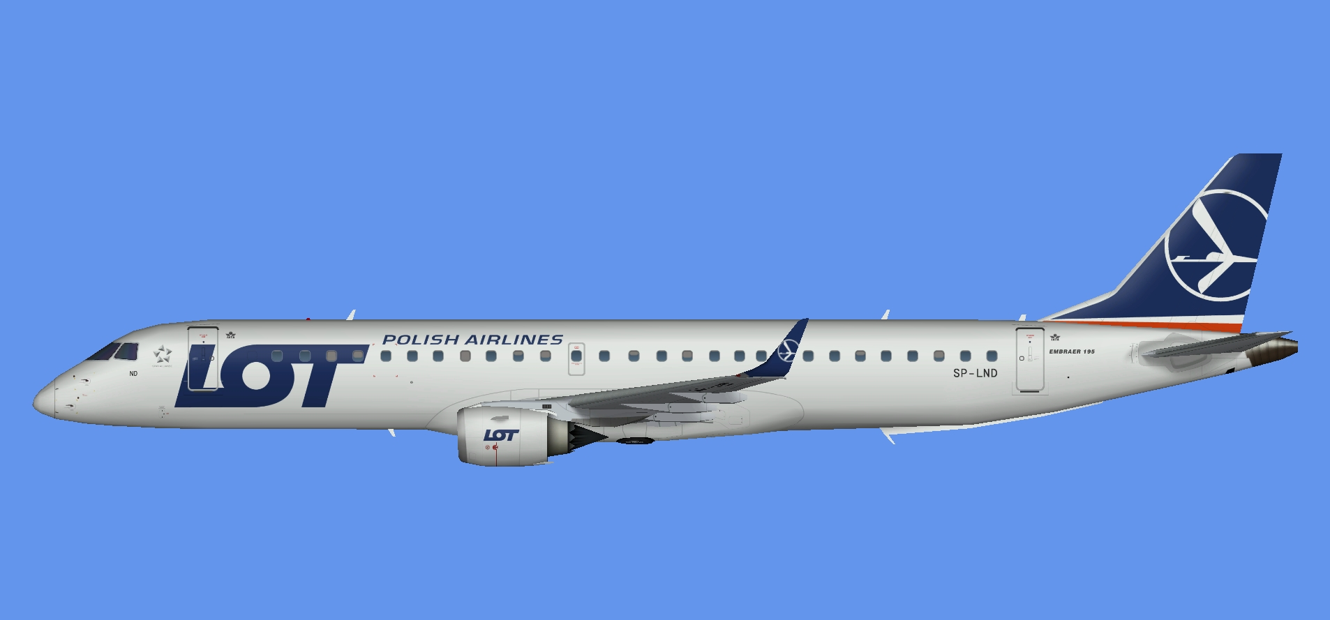 LOT Polish Airlines Embraer EMB195 NC