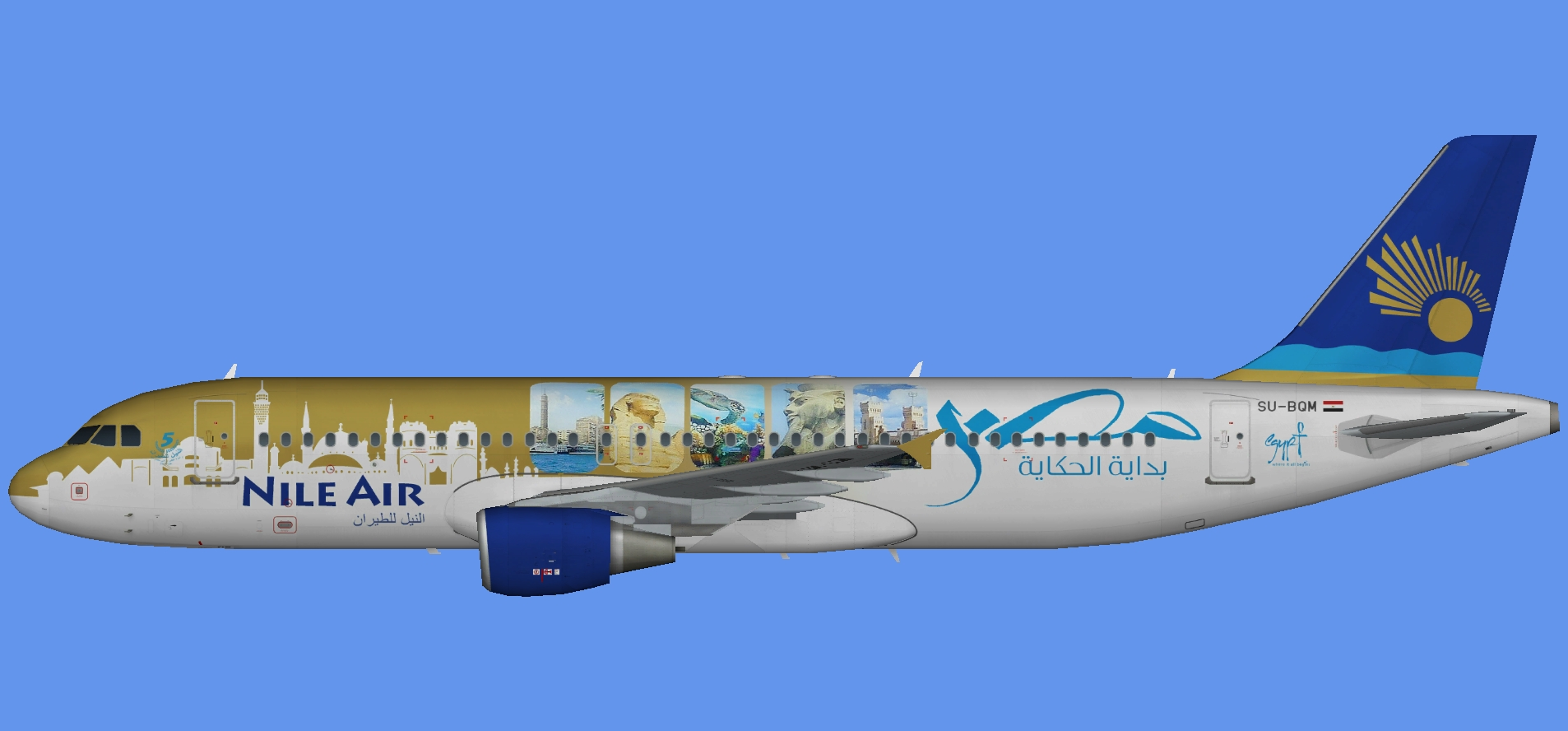 Nile Air A320 'Egypt Tourism'