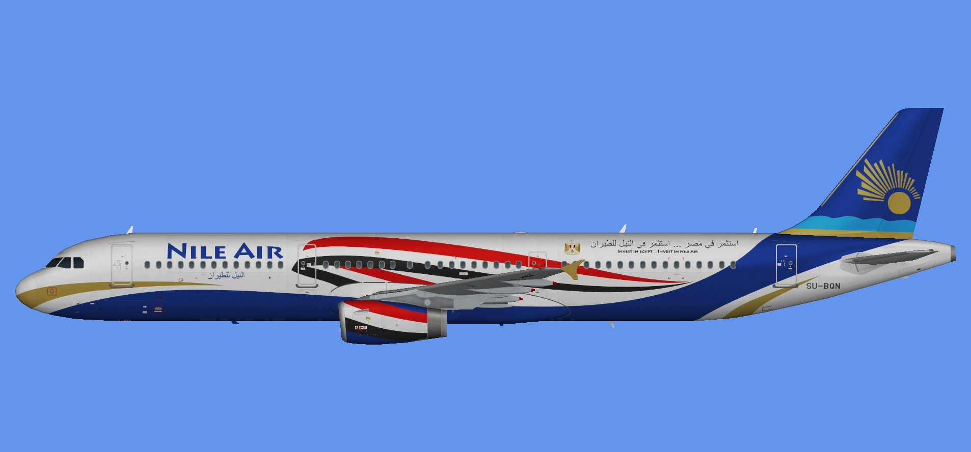 Nile Air A321 'Invest in Egypt'
