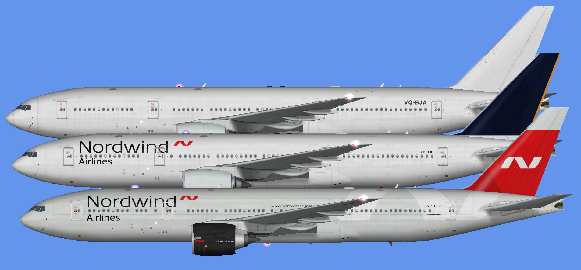 Nordwind Airlines 777-200 (FSP)