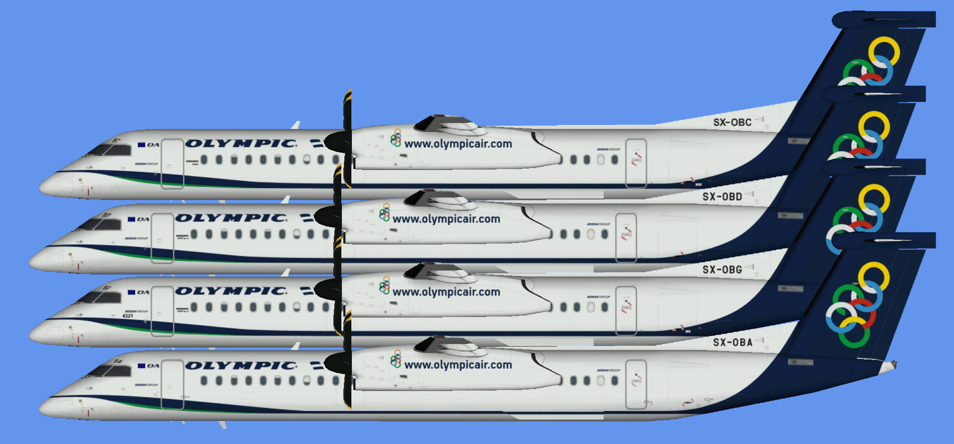 Olympic Air Dash 8-400