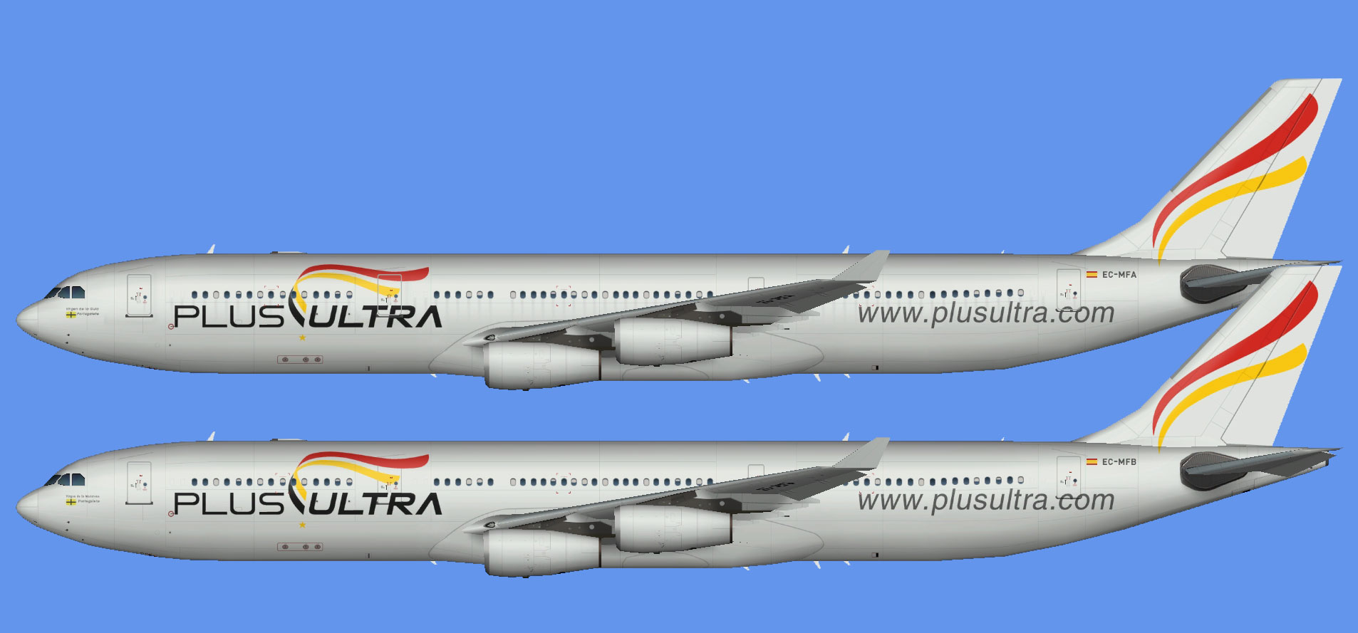 Plus Ultra A340 fleet (TFS)