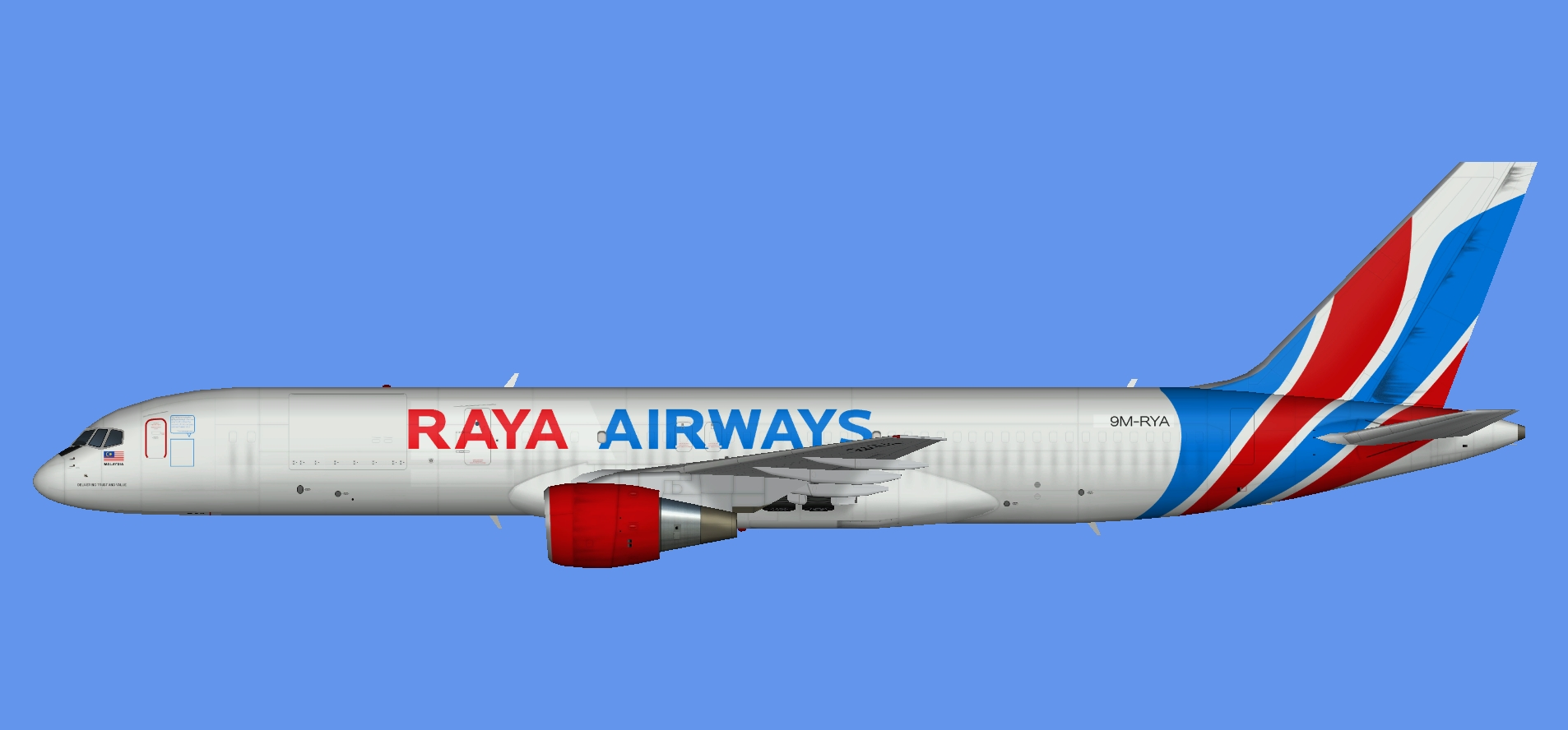 Raya Airways Boeing 757