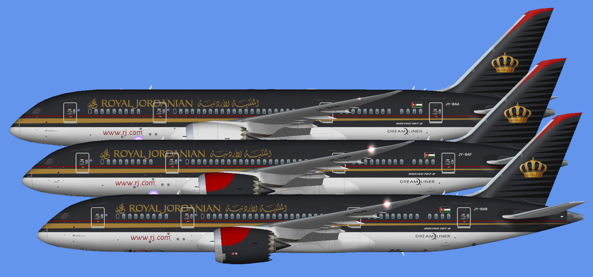 Royal Jordanian 787-8 (UTT) - The Flying Carpet Hub