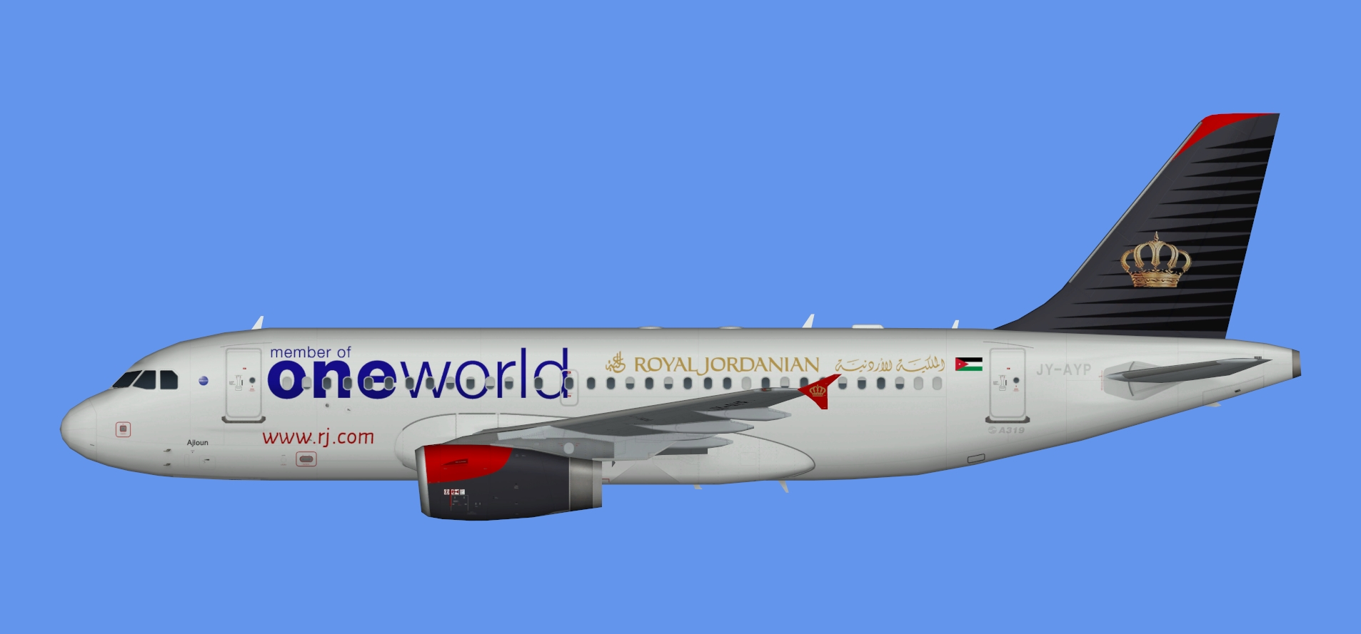 Royal Jordanian Airbus A319 Oneworld