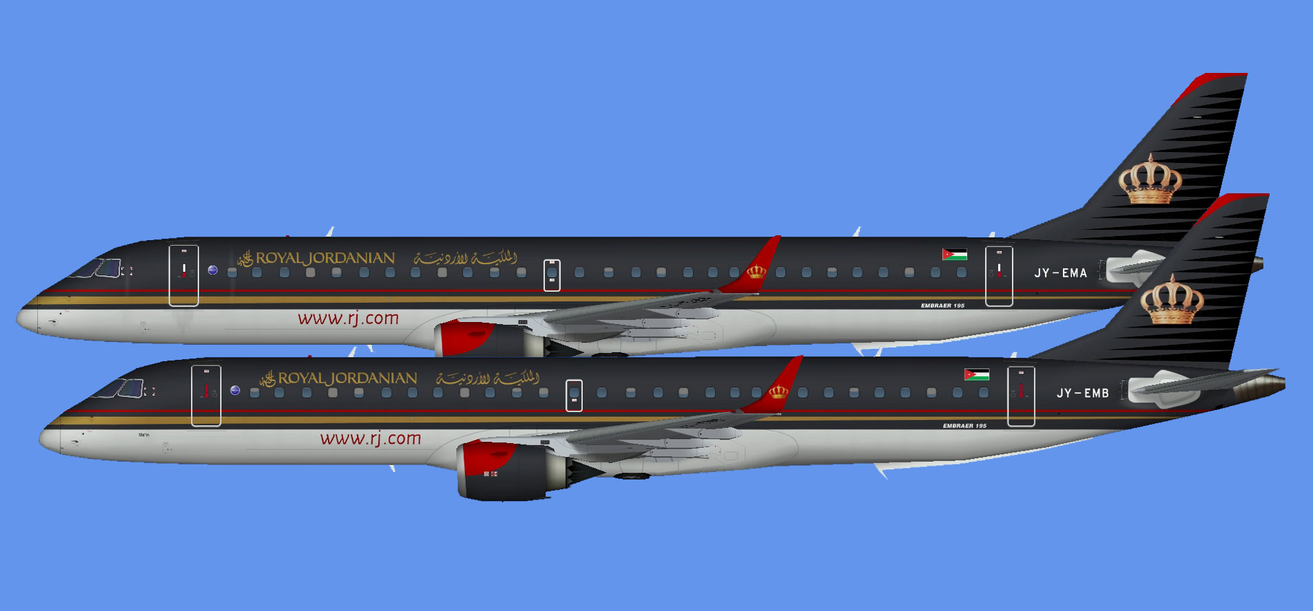 Royal Jordanian Airlines EMB195