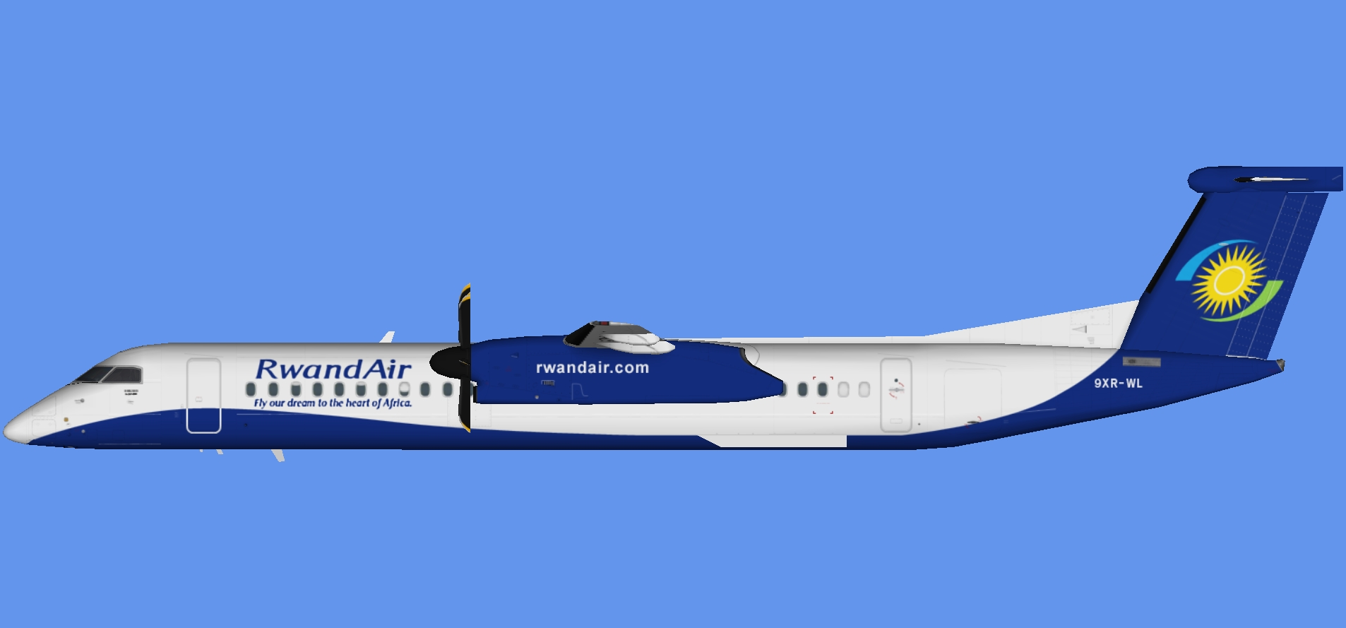 Rwandair Dash 8-400