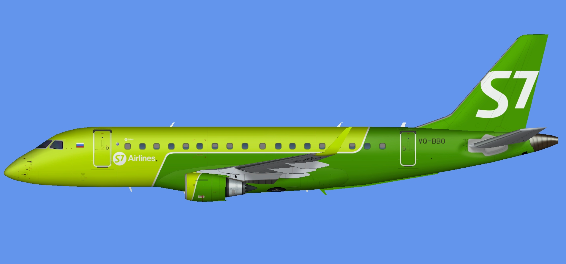 S7 Airlines Embraer E-170 (RFSL)
