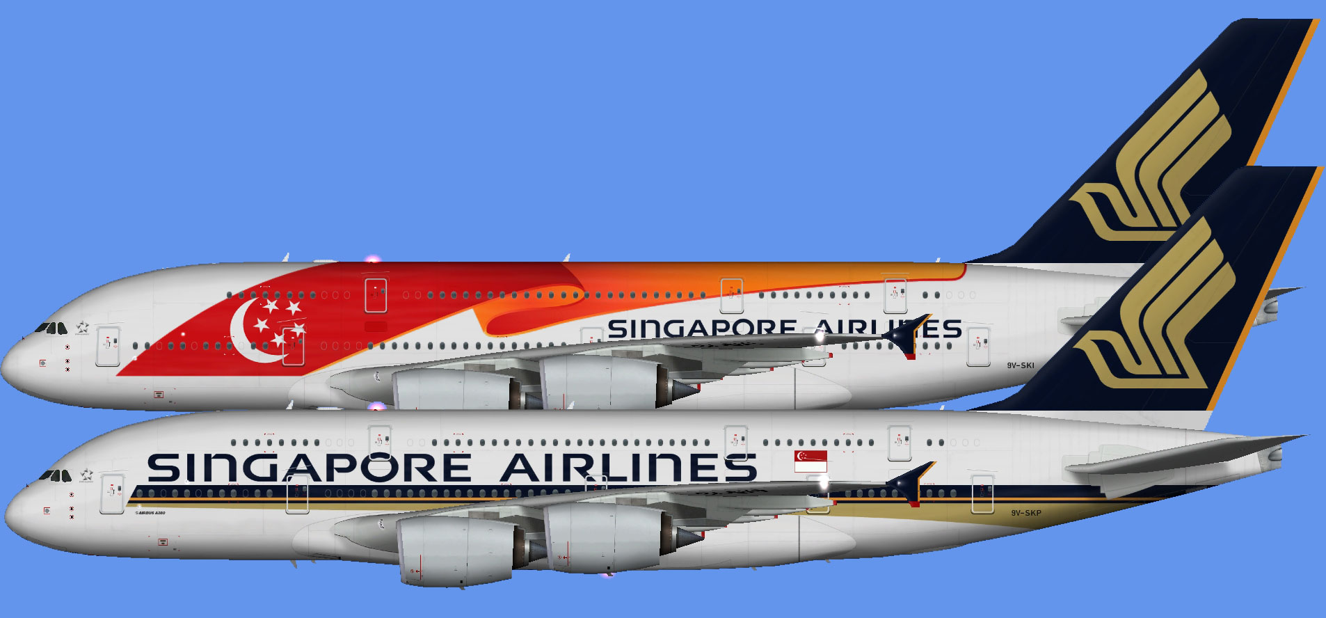 Singapore Airlines Airbus A380 (FSP)