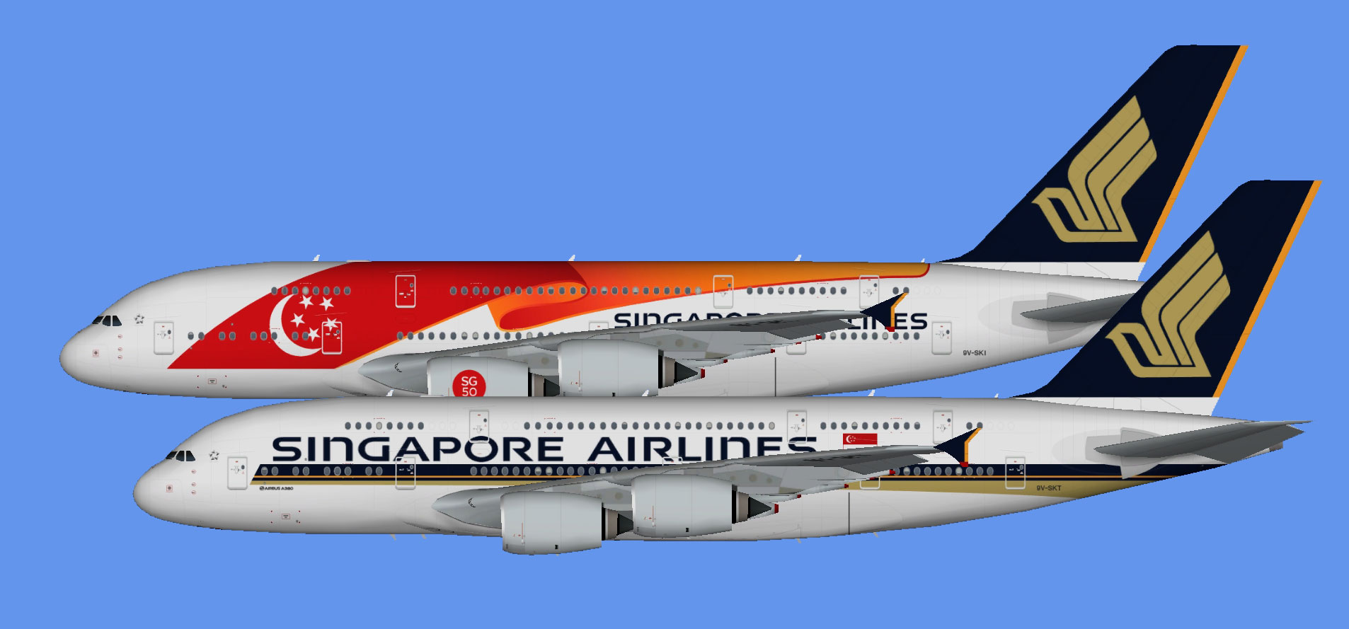 Singapore Airlines Airbus A380 (TFS)