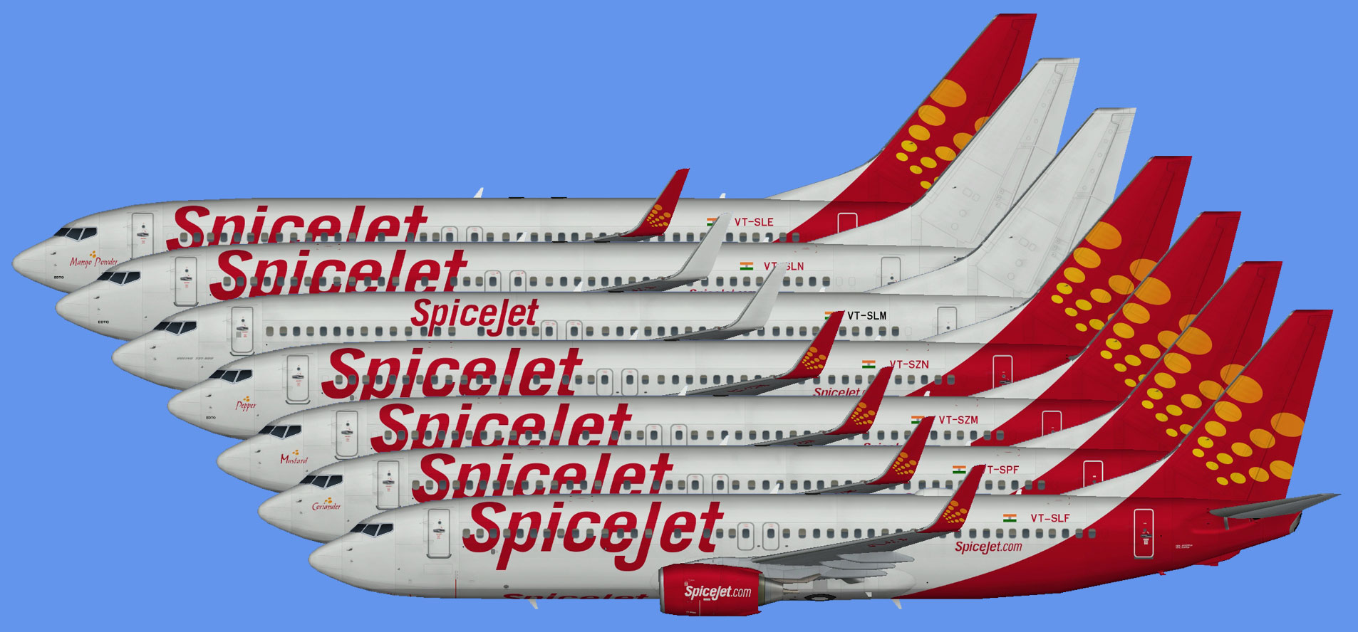 Spicejet 737-800 fleet -part1