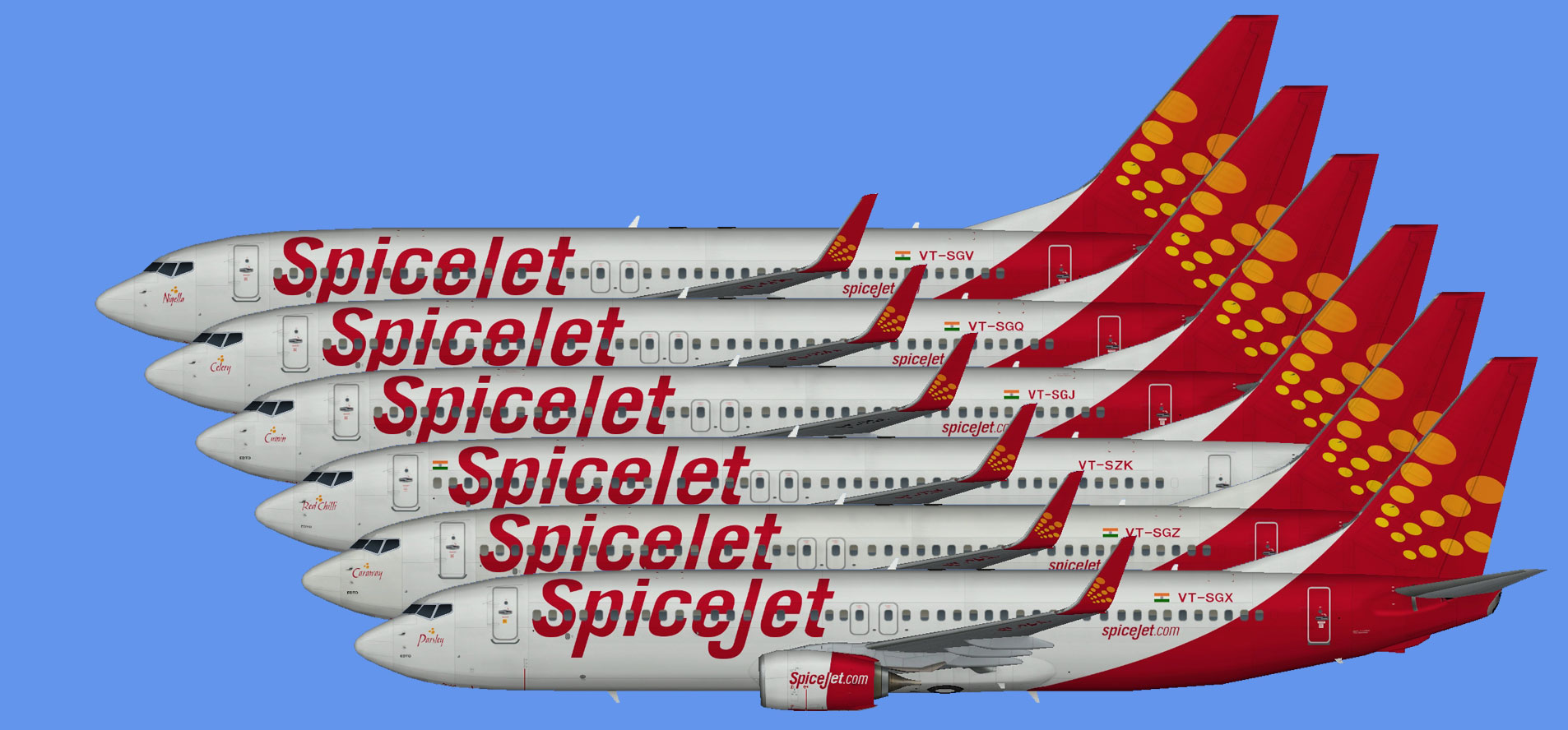 Spicejet 737-800 fleet -part2