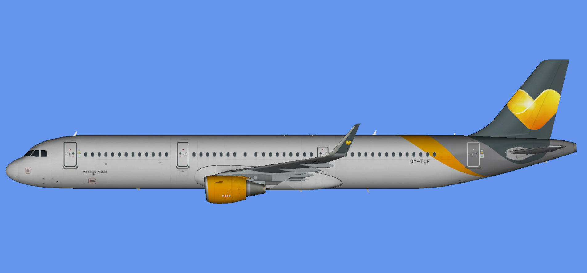 Sunclass Airlines Airbus A321 (sharklets)