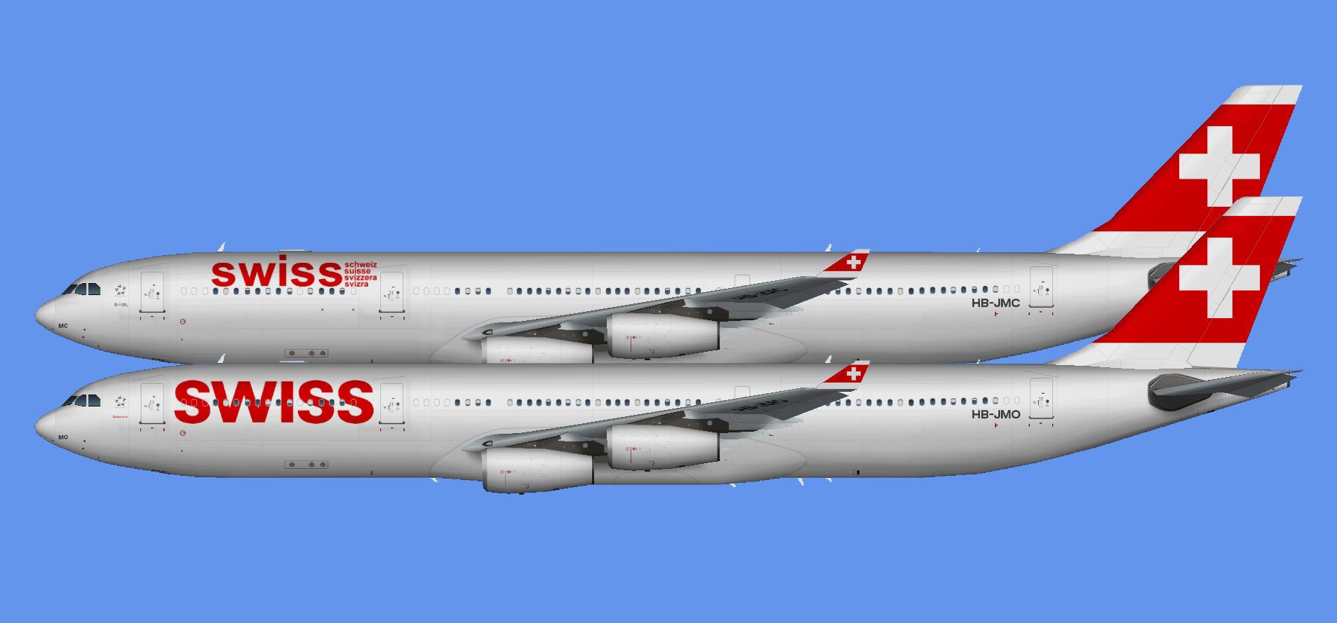 Swiss International Airbus A340-300 (TFS)