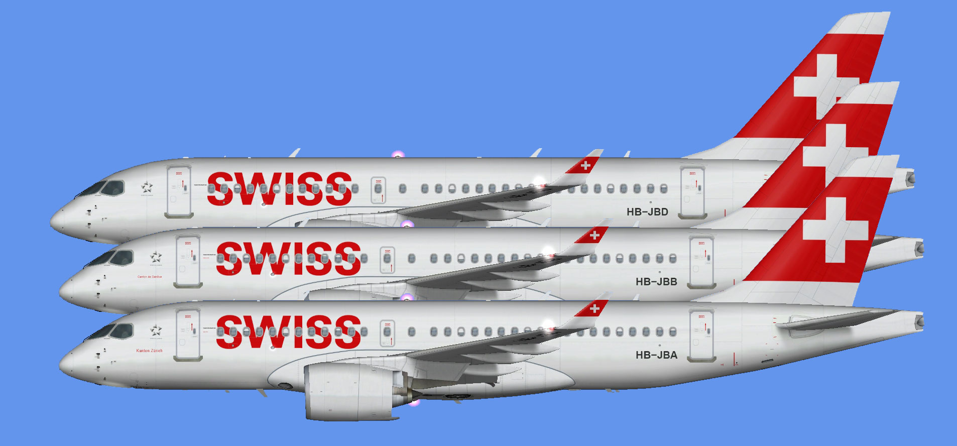 Swiss International Airbus A220-100 (FSP)