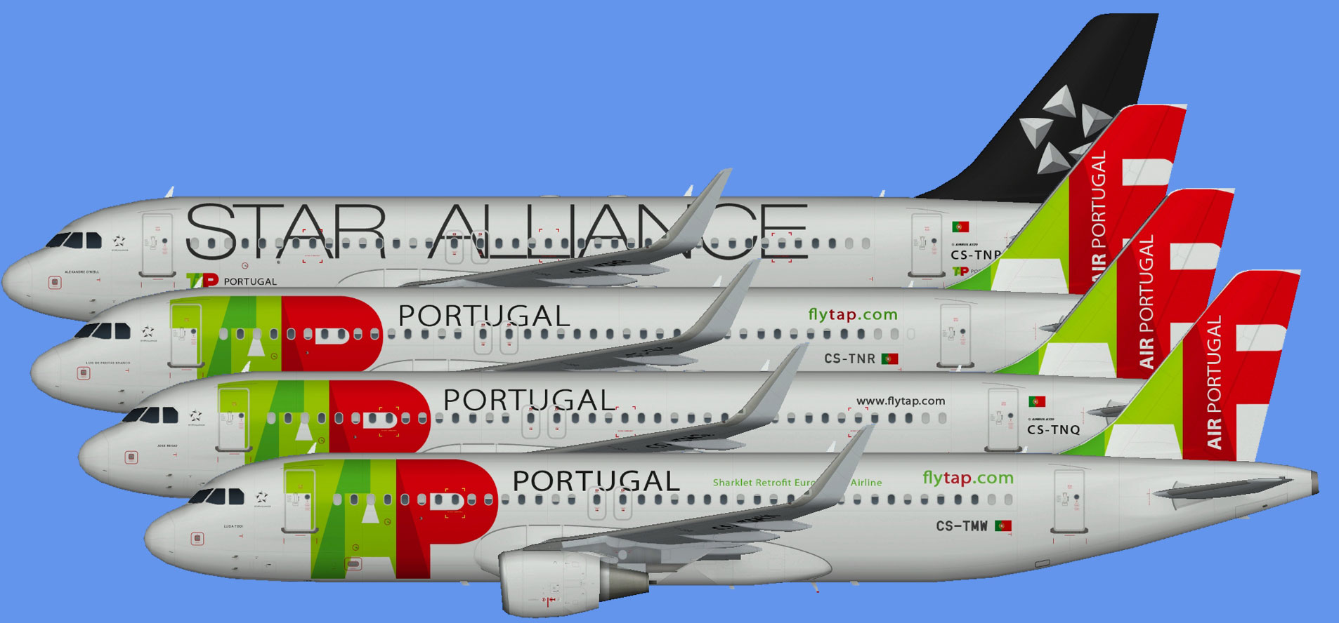 TAP Air Portugal A320 (Sharklets)