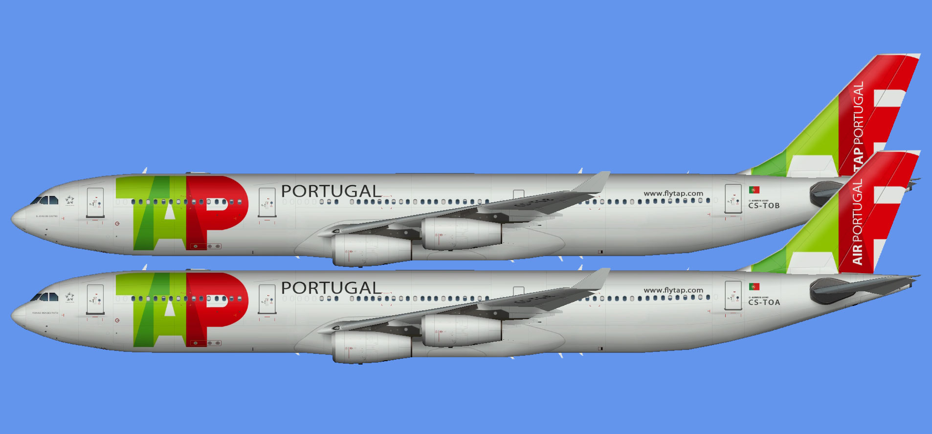 TAP Air Portugal A340 fleet (TFS)