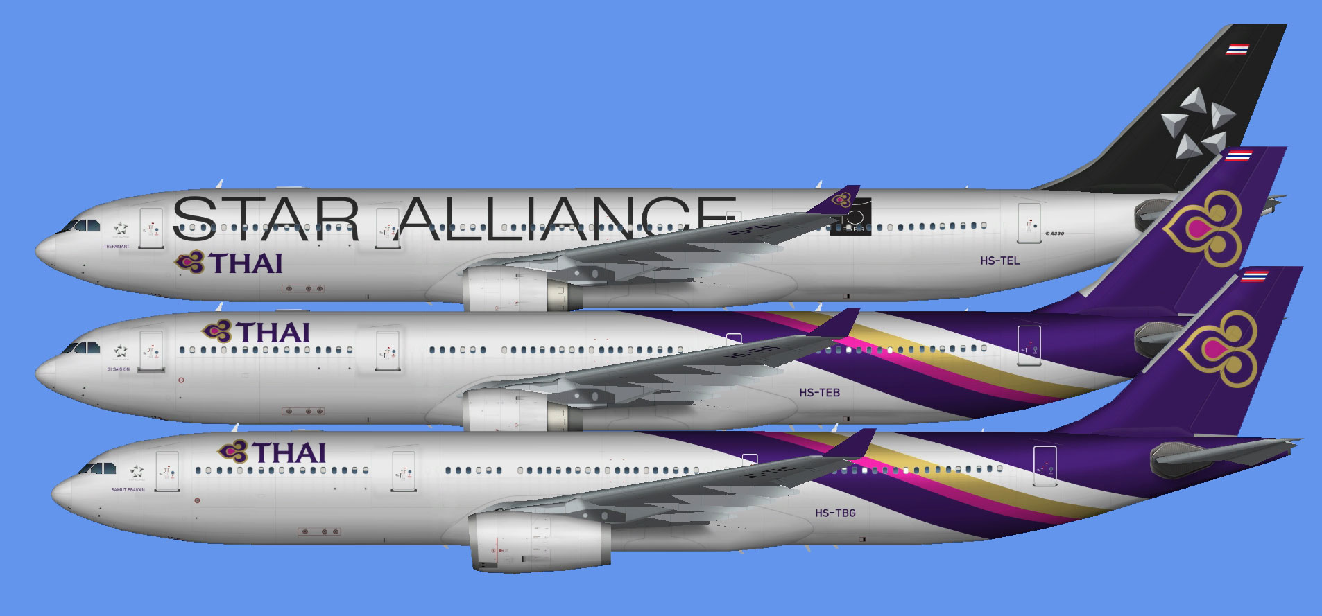 Thai Airways Airbus A330-300 (TFS)