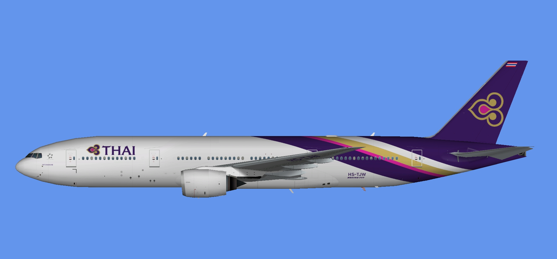 Thai Airways Boeing 777-200 (TFS)