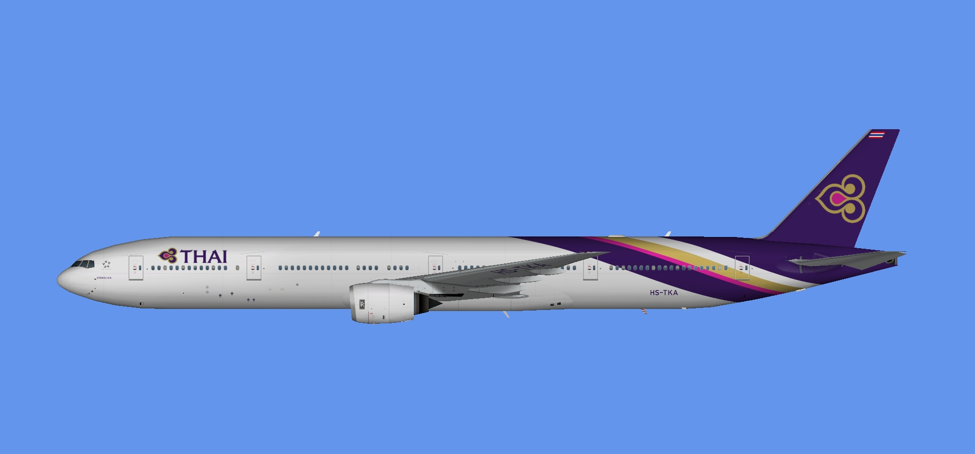 Thai Airways Boeing 777-300 (TFS)