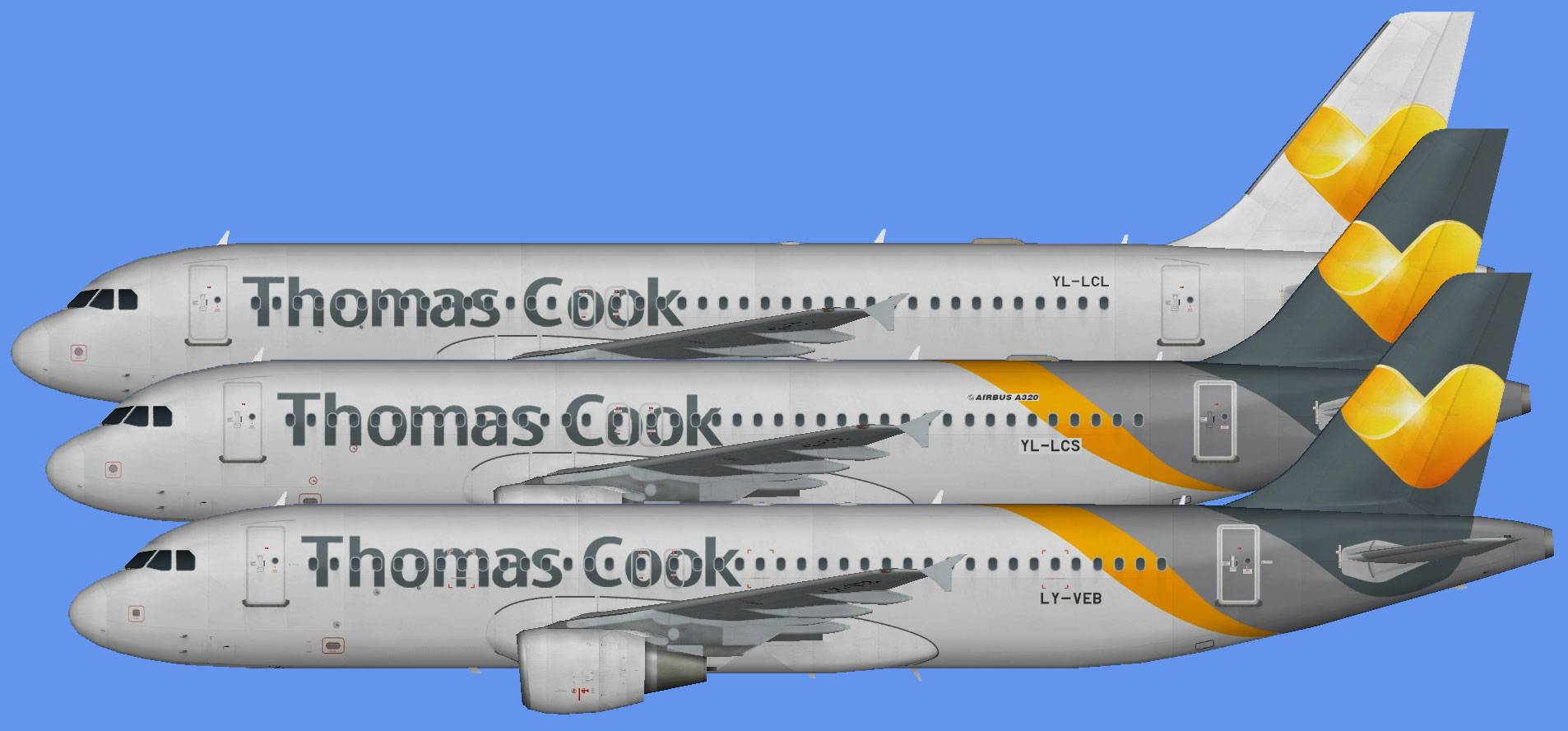 Thomas Cook A320 leases (CFM)