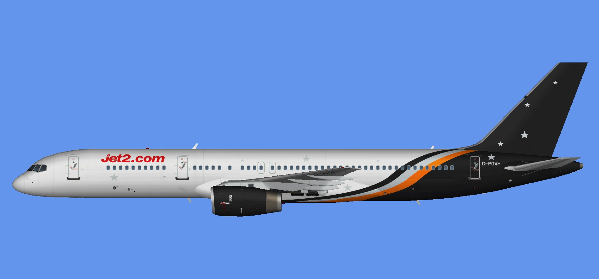 Jet2.com 757 opb Titan Airways
