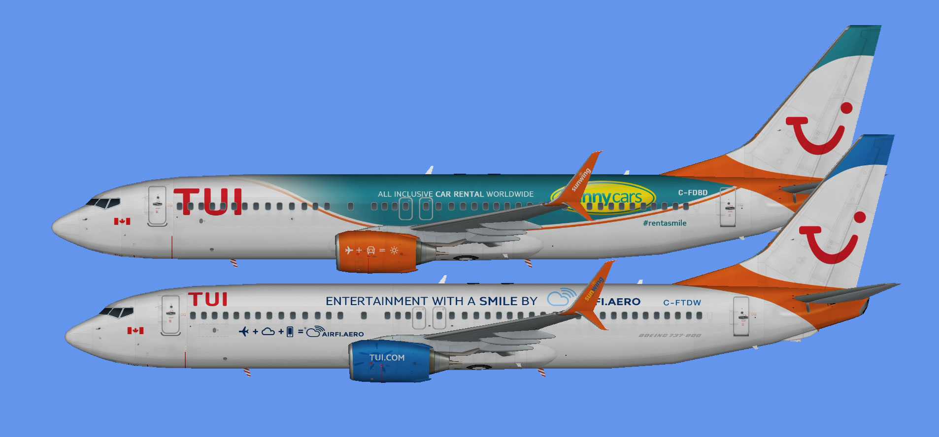 TUI Netherlands Boeing 737-800 lsf Sunwing