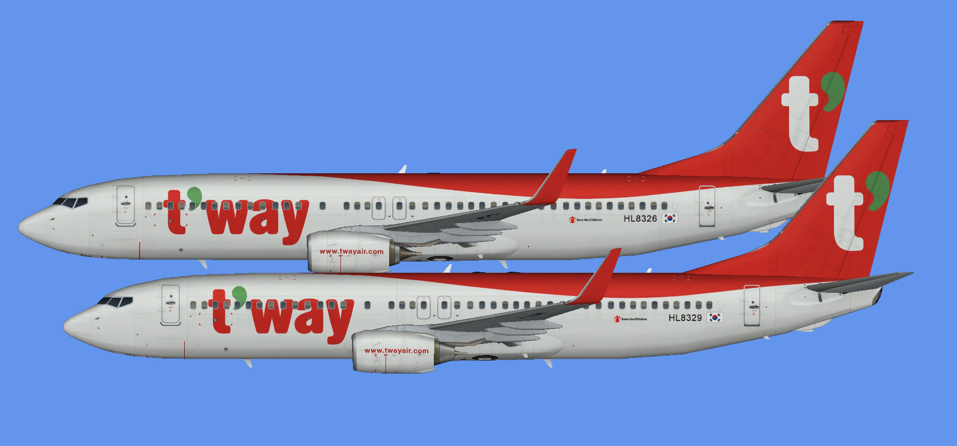T'way Air 737-800 (NC)