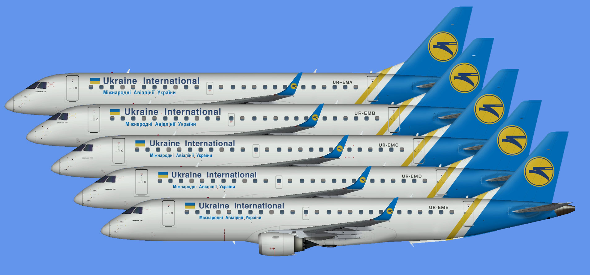 Ukraine International Embraer E-190