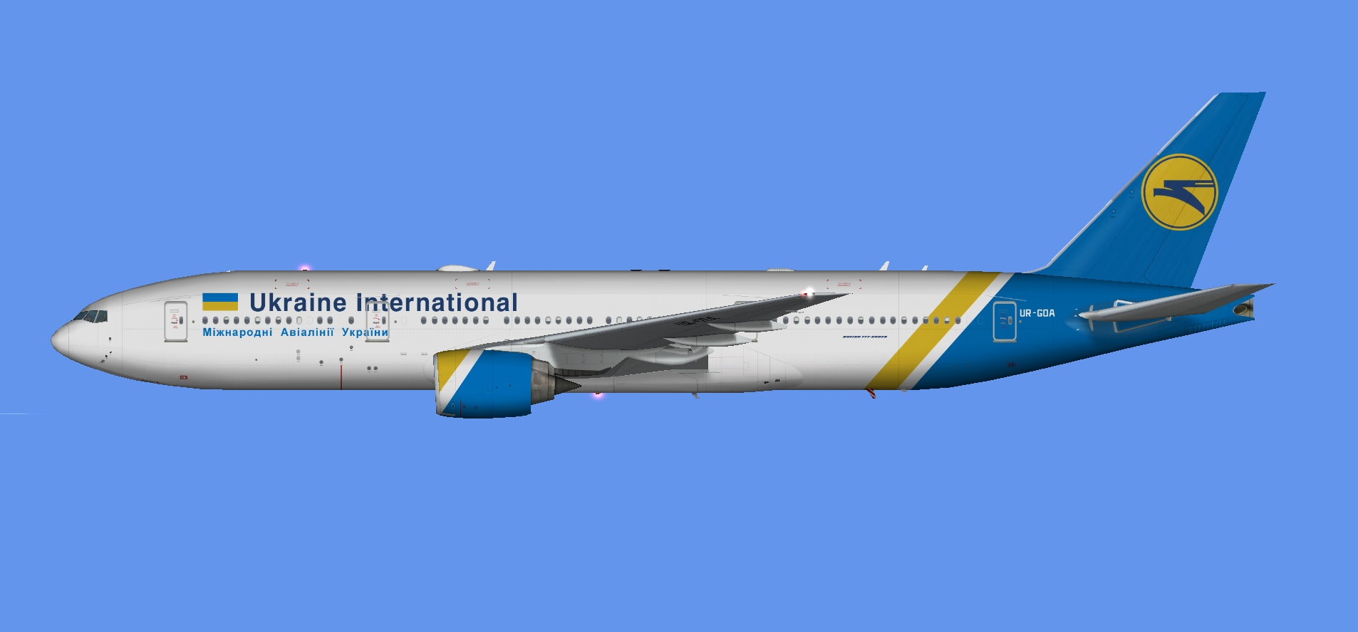 Ukraine International 777-200 (FSP)
