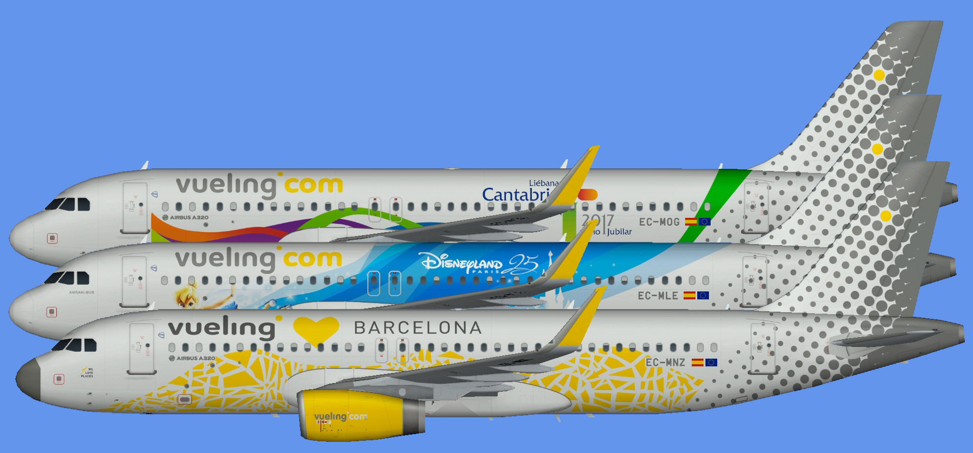 Vueling Airbus A320 logojets
