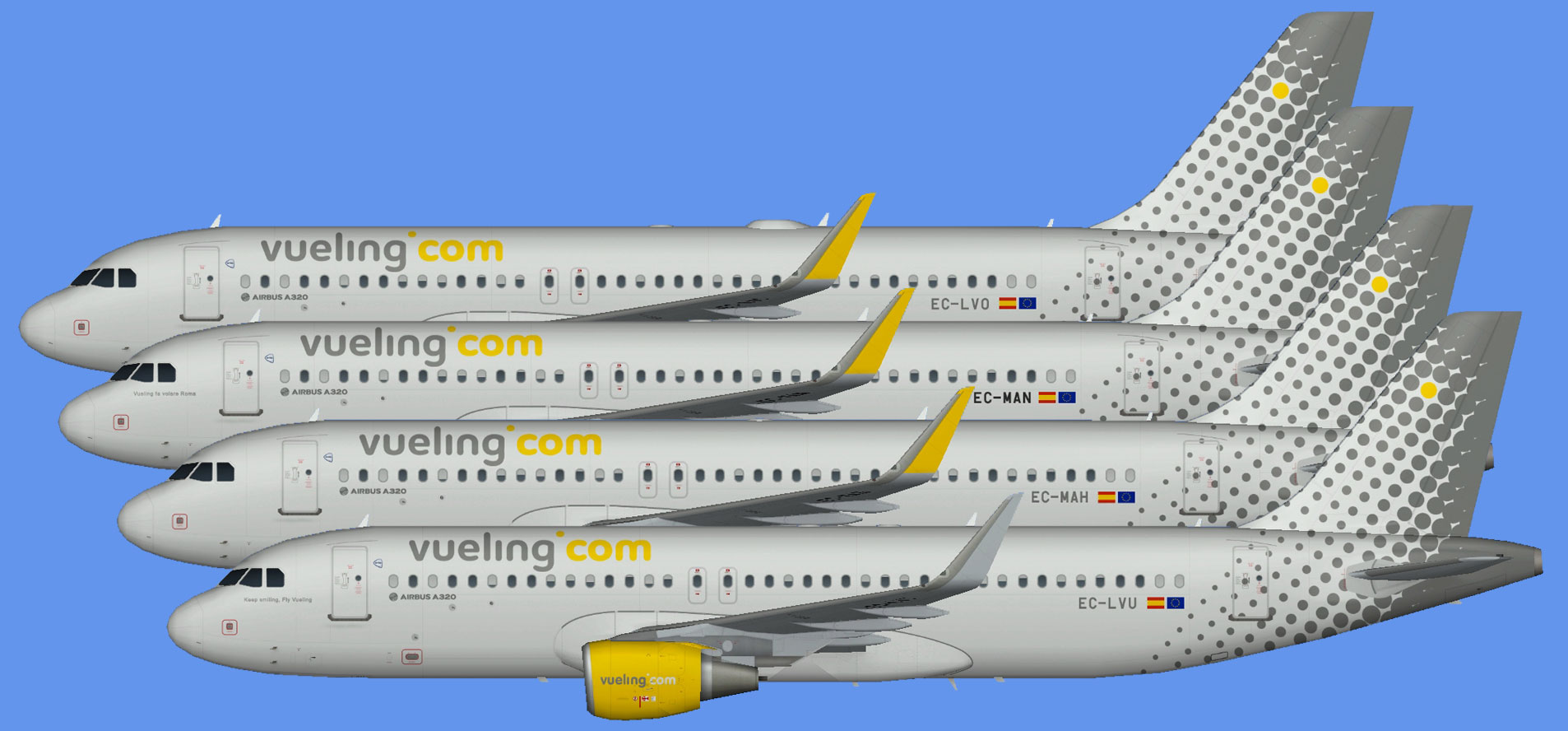 Vueling Airbus A320 CFM Sharklets