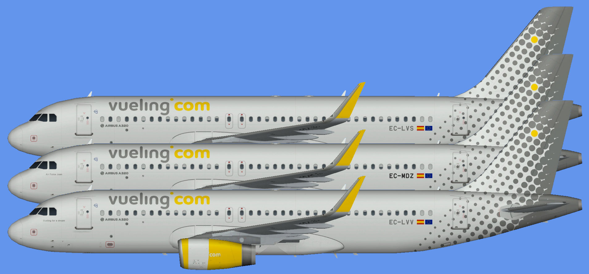 Vueling Airbus A321 The Flying Carpet Hub
