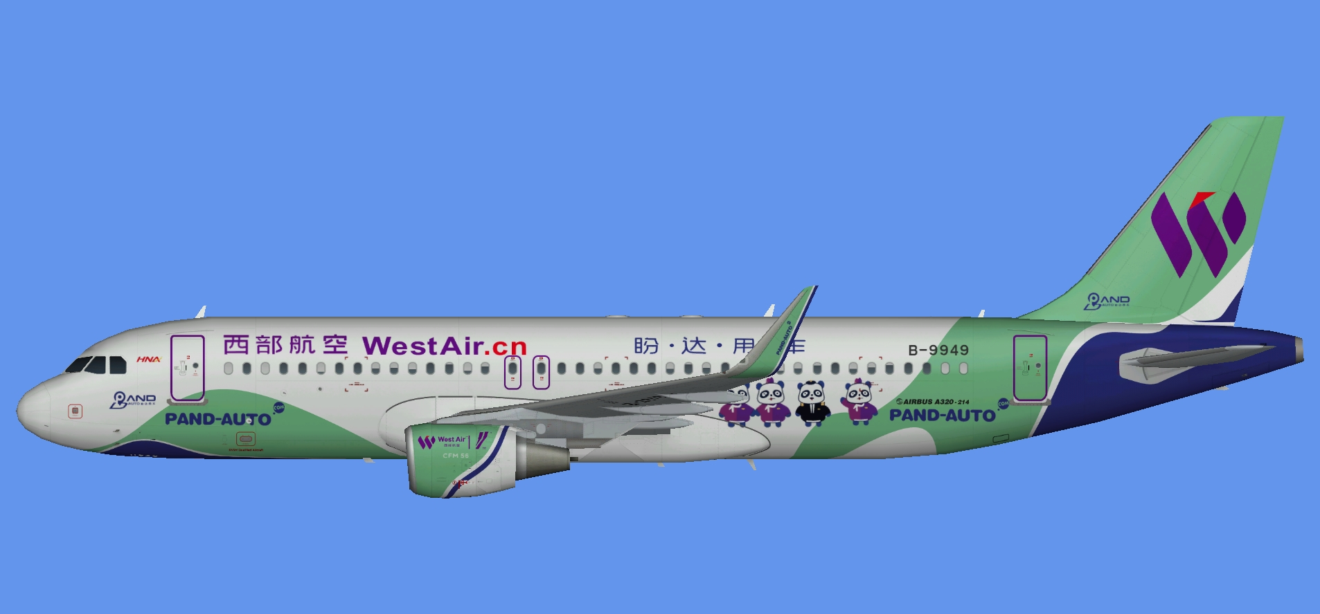 West Air A320 Pand Auto