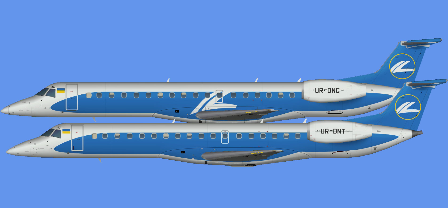 Wind Rose Aviation Embraer E-145