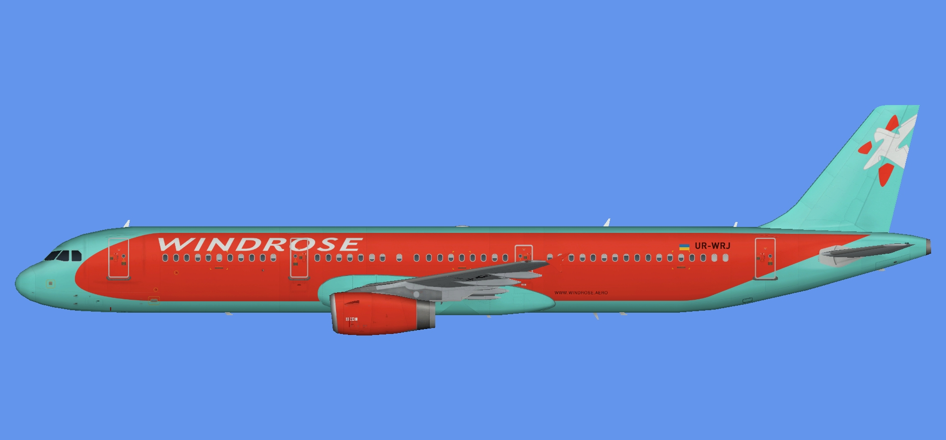 Wind Rose Airbus A321 Update