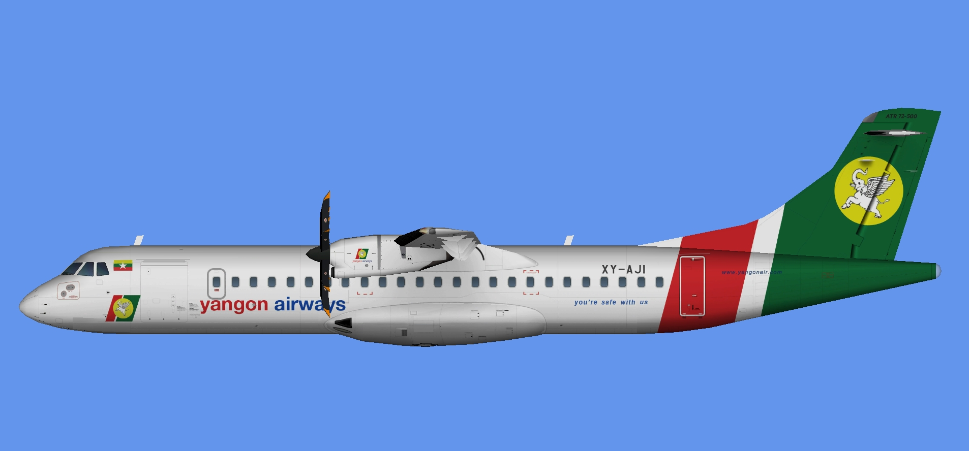Yangon Airways ATR 72-500